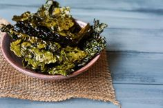 Crispy Baked Kale Chips with recipe (link)