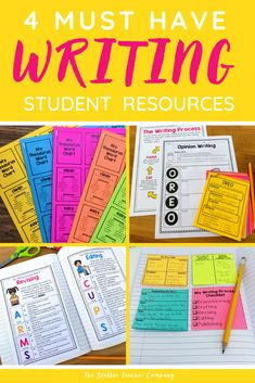 Resources My Students LOVE Using During Writer's Workshop — The Stellar Teacher Co. Writing Resources, Teaching Writing, Opinion Writing, Writer Workshop, Writing Process, Upper Elementary, Interactive Notebooks, Language Arts, Vocabulary