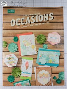 I attended the Stampin' Up! OnStage event here in Atlanta over the weekend and those in attendance got their first peeks at the upcoming 2017 Occasions Catalog from Stampin' Up!. It&#8…