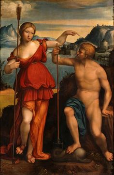 Poseidon and Athena 1512. The painting probably was commissioned by the Duke Alfonso d'Este Ferrara