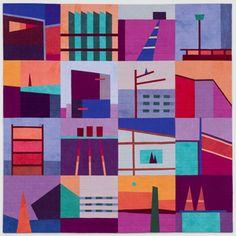 """""""Big Quilt #2"""" (purple),New work by Erin Wilson"""