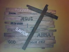 My very first pallet sign for our church prayer room.