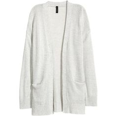 Knit Cardigan $24.99 ($25) ❤ liked on Polyvore featuring tops, cardigans, outerwear, knit cardigan, white long sleeve cardigan, knit top, long sleeve tops and cardigan top