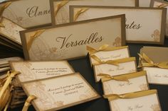 Wedding Place Cards, Vintage Style, French Wedding, Tent Style, France, Paris, Eiffel Tower, Escort Cards, Unique. $1.50, via Etsy.