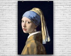 Girl with a Pearl Earring, Johannes Vermeer, 1665 Vintage Art Print #fineart #fineartprints #artprints #art #artposters #fineartposters #vintageart #vintageartprints #vintageartposters #vintageprints #vintageposters
