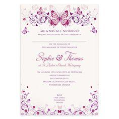 Butterfly Wedding Invitation £1.25