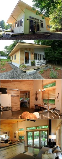 Thrifty Vermont Family Rent Main House and Live in Tiny House - A family in Montpelier, Vermont had a smart idea to save money; they would build a tiny home in their back yard and rent out their main home. With the help of local building company, Anomal, the family designed and built a 493-square foot modern home in under three weeks!
