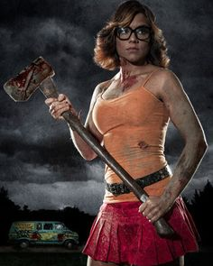 Apocalyptic Scooby-Doo Daphne and Velma Cosplay