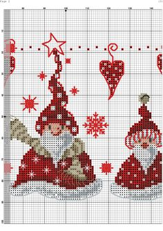 4-5 SC Santa Cross Stitch, Cross Stitch Cards, Cross Stitching, Cross Stitch Embroidery, Cross Stitch Designs, Cross Stitch Patterns, Cross Stitch Freebies, Christmas Embroidery, Hand Embroidery Designs