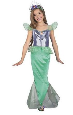 Ariel Little Mermaid from WholesaleHalloweenCostumes.com.  Mermaid costumes are the best to make you feel in an aquatic kingdom. Ariel Little Mermaid Standard Child costume is a dress with a mermaid bottom tail. The lovely and attractive Little Mermaid costume is the best for Halloween party. It is a full-length velvet dress in green color.  Get your rebate from RebateGiant.