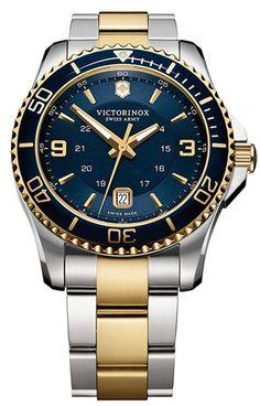 Victorinox Swiss Army® 'Maverick GS' Two Tone Watch, 43mm (Regular Retail Price: $650.00)