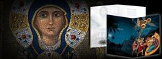 Orthodox Christian greeting cards featuring Greek and Russian icons