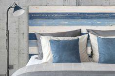 Cabecero cama estilo Vintage Decapé Azules