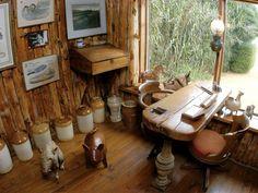 Escritorio de Pablo Neruda en su casa de Isla Negra(Chile).