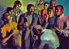 Julia E Eckel (American painter 1907-1988) Revival 1934