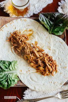 Tacos de pollo al balsámico. Receta fácil y deliciosa con fotografías de cómo hacerla y recomendaciones de cómo servirla. Recetas de tacos. Recetas con pollo