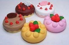 Japanese Cake Erasers 5 Pc by Iwako Japan. $6.49. Japanese Take Apart (puzzle) Erasers - Cake