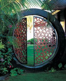 This moon gate takes you through the portal. I could see this in my yard along with the glowing pathway stones.
