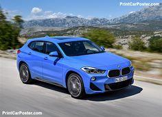 BMW X2 2019 poster, #poster, #mousepad, #tshirt, #printcarposter