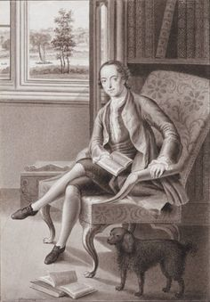 [Horace Walpole in his library] [art original] / G. Creator: Harding, G. (George Perfect), Published/Created: [England], [between 1802 and Physical Description: 1 drawing : grey ink wash on wove paper ; image x 13 cm, sheet x 14 cm The Castle Of Otranto, Gothic Stories, Gothic Castle, Royal Pavilion, English Architecture, Strawberry Hill, Library Art, National Portrait Gallery, Victoria And Albert Museum