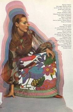 Vintage Fashion Spread Harper's Bazaar Feb 1970 Love the Game by Hiro - Vintage style and fashion photography - Photoshoot, magazine scan 60s And 70s Fashion, Vintage Fashion, Woodstock Pictures, 70s Aesthetic, Magazine Collage, Fashion Images, Harpers Bazaar, Creative Inspiration, Editorial Fashion