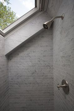 Shower skylight modern bathroom