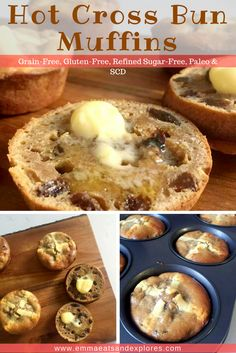 Hot Cross Bun Muffins by Emma Eats & Explores - Grainfree, Glutenfree, Refined Sugar-Free, Paleo, SCD, Vegetarian