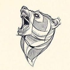angry-bear-head.jpg (419×419)