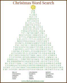Christmas word searc