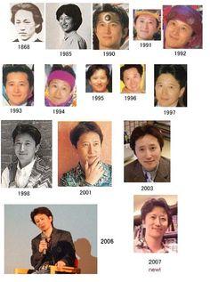 Look how Hirohiko Araki (JoJo's Bizarre Adventure) hasn't changed his appearance in like a bazillion years.