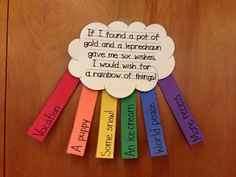 This is adorable. A rainbow of wishes!