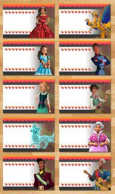 Printable Instant Download Elena of Avalor Food Tents - 10 Food Tents - Editable PDF (Type right on the screen) This adorable set of Elena of Avalor Food Tents is the perfect way to decorate for your little ones birthday party! ===================== Whats Included?