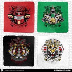 Mighty Latin Zords 4-Coaster Set