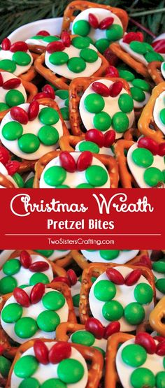 Christmas Wreath Pretzel Bites are delicious bites of sweet and salty goodness. They are a great Christmas Treat and so easy to make. Your friends and family will love this unique Christmas Dessert. Follow us for more fun Christmas Food Ideas.