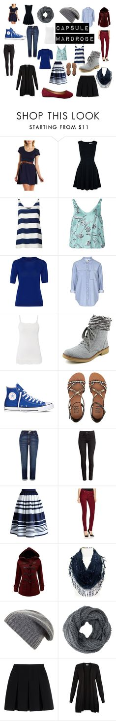 """Capsule Wardrobe"" by paperchain2 ❤ liked on Polyvore featuring Charlotte Russe, Oasis, TIBI, 3.1 Phillip Lim, Theory, Topshop, maurices, Rocket Dog, Converse and Billabong"