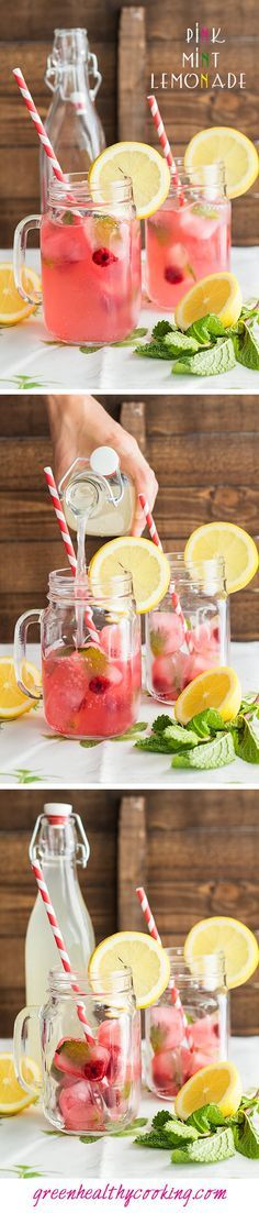 This Pink Mint Lemonade is THE most awesome lemonade you will ever try! It is super refreshing, healthy, yummy AND darn beautiful, don't you think?