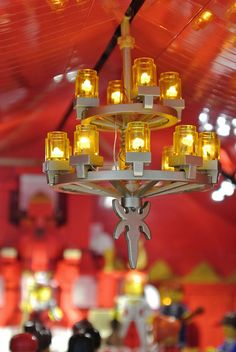 Lego Chandelier with LED's ....ok, that's awesome.