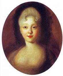 Portrait of EMPRESS ELIZABETH, daughter of PETER THE GREAT and CATHERINE I. She was her father's favorite child and very much like him in many ways. In 1741 a coup put her on the Russian throne where she reigned as a very popular monarch.