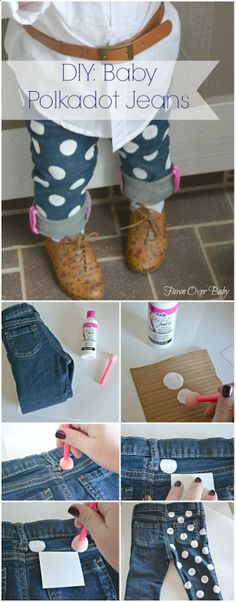 DIY: Baby Polka Dot Jeans/Fawn Over Baby