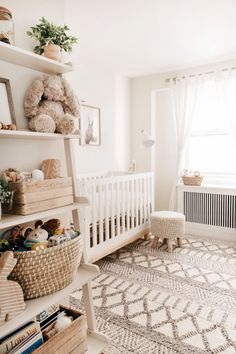 Keep it light and cheerful in Kendall Kremer's gender neutral nursery. 💕 Design your little one's room to create a space that they and you will love