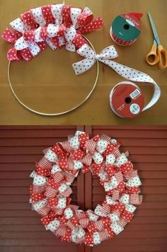 Diy christmas wreaths 285204588890911806 - DIY Christmas Ribbon Wreath Instructions- Christmas Wreath Craft Ideas Holiday Decoration Source by Diy Christmas Ribbon Wreath, Diy Christmas Decorations Easy, Wreath Crafts, Diy Wreath, Holiday Wreaths, Holiday Ornaments, Holiday Crafts, Holiday Decor, Ribbon Wreaths
