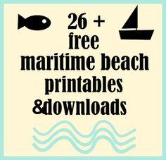 ☞ Over 26 free maritime beach printables and nautical downloads   MeinLilaPark – digital freebies