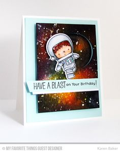 Space Explorer Stamp Set and Die-namics, Circle Spinner Channels - Karen Baker    #mftstamps