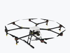 The DJI Agras is an octocopter designed for precision variable rate application of liquid pesticides, fertilizers and herbicides, bringing new levels of efficiency and manageability to the agricultural sector. Agricultural Sector, Phantom Drone, Smart Robot, Agriculture, Drones, Robots, Farms, Food, Design