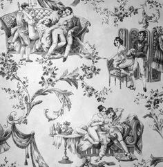 Casa Sugar featured K-Lou's erotic toile wallpaper, full of naughty scenes.