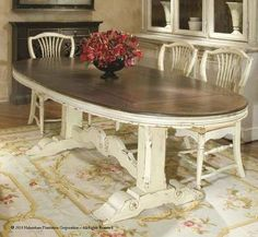 Habersham Southampton Dining Table-- beautiful for kitchen-- thinking something long and oval to fit in the space
