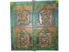 Carved Panel 4 Different Dancing Ganesha India 36x36 by Mogul Interior, http://www.amazon.com/dp/B00CINGBJQ/ref=cm_sw_r_pi_dp_TqhVrb1K3AV9C