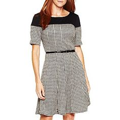 Perceptions® Houndstooth Dress - jcpenney