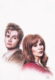 Rose: I'm gonna wait for the Doctor, just like he'd wait for me. Ten/Rose -- Doctor Who (c) RTD, the BBC, et al. Doctor Who - Ten+Rose Twelfth Doctor, 10th Doctor, David Tennant, Sherlock, Supernatural, Almost Lover, Tardis Art, Rose And The Doctor, Catherine Tate