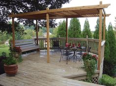 Build a Pergola in Your Backyard with One of These 15 Free Plans: Pergola Plan with Adjustable Roof Panels from HGTV